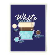 White Russian Art Print
