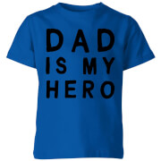 My Little Rascal Dad Is My Hero Kids' T-Shirt - Royal Blue