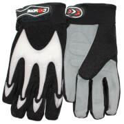 Coyote MTB/BMX Full Finger Cycling Gloves - Black/White - L - Black/White
