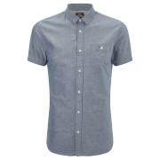 Threadbare Men's Alfa Short Sleeve Shirt - Navy