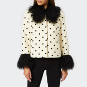 Saks Potts Women's Dorthe Dotted Jacket - White/Black - 2/UK 10 - White