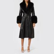 Saks Potts Women's Foxy Black Coat - Black - 1/UK 8 - Black