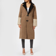 Saks Potts Women's Febbe Brown Coat - Brown/Beige/Black - 1/UK 8 - Brown