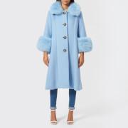 Saks Potts Women's Yvonne Sky Blue Coat - Blue - 1/UK 8 - Blue