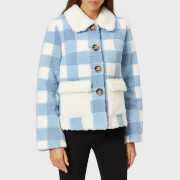 Saks Potts Women's Lucy Baby Blue Jacket - Blue - 1/UK 8 - Blue