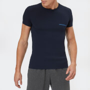 Emporio Armani Men's Small Logo T-Shirt - Blue