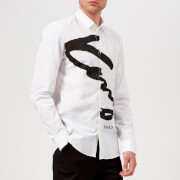 KENZO Men's Slim Fit Signature Logo Shirt - White