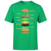 Bobs Burgers Expanded Burger Men's T-Shirt - Kelly Green