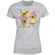 Bobs Burgers Belchers Condiment Fight Women's T-Shirt - Grey