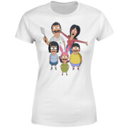 Bobs Burgers Family Looking Up Women's T-Shirt - White