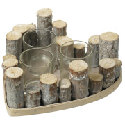 Parlane Heart Wood Tealight Holder