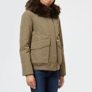 Woolrich Women's Military Bomber Coat - Alpha Taupe - L - Cream