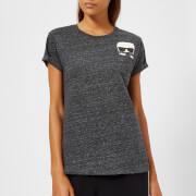 Karl Lagerfeld Women's Ikonik Karl Pocket T-Shirt - Charcoal - S - Grey