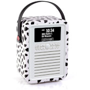 VQ Retro Mini DAB & DAB+ Digital Radio with FM, Bluetooth and Alarm Clock - Lulu Guinness Black Lips
