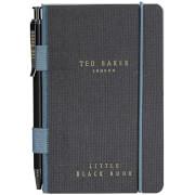Ted Baker Herren Mini-Notizbuch und Stift – Schwarz