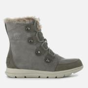 Sorel Women's Explorer Joan Hiker Style Boots - Quarry Black - UK 3 - Grey