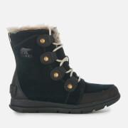 Sorel Women's Explorer Joan Hiker Style Boots - Black Dark Stone - UK 4 - Black