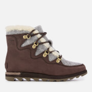 Sorel Women's Sneakchic Alpine Hiker Style Boots - Cattail - UK 3 - Brown