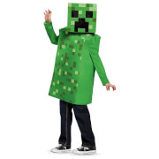 Minecraft Kids Creeper Classic Fancy Dress - Green