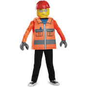 LEGO Iconic Kids Construction Worker Classic Fancy Dress - Orange