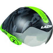Lazer Wasp Air Tri Helmet – S – Matt Black Camo Flash Green W/Orange Kit