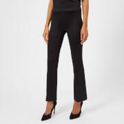 Helmut Lang Women's Cropped Flare Rib Trousers - Black - L - Black