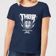 Camiseta Marvel Thor Ragnarok Asgardian Triángulo - Mujer - Azul marino - S - azul marino