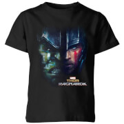 Marvel Thor Ragnarok Hulk Split Face Kids' T-Shirt - Black