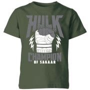 Marvel Thor Ragnarok Hulk Champion Kids' T-Shirt - Forest Green