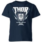 Camiseta Marvel Thor Ragnarok Asgardian Triángulo - Niño - Azul marino - 11-12 años - azul marino