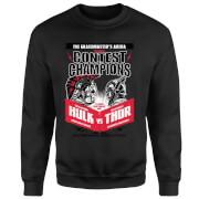 Marvel Thor Ragnarok Champions Poster Sweatshirt - Black