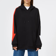 MSGM Women's Hoodie with Arrow Down the Side - Black - M - Black