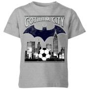 DC Batman Football Gotham City Kids' T-Shirt - Grey