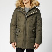 Mackage Men's Edward Fur Hood Down Jacket - Army Natural - US 40/S - Green