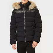 Mackage Men's Ronin Leather Trim Down Jacket - Black Natural