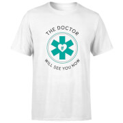 THE DOCTOR Mens T Shirt   White   L   White