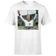 Shoot! Beckenbauer Celebration Men's T-Shirt - White