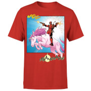 Marvel Deadpool Unicorn Battle T-shirt - Rood