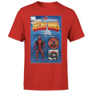 Marvel Deadpool Secret Wars Action Figure Herren T-Shirt - Rot