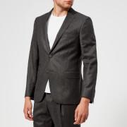 Officine Générale Men's Ticket Pocket Flannel Jacket - Anthracite - EU 46/S - Grey