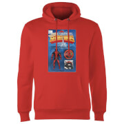 Marvel Deadpool Secret Wars Action Figure Hoodie - Red