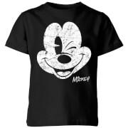 Disney Worn Face Kids' T-Shirt - Black