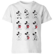 Disney Evolution Nine Poses Kids' T-Shirt - White