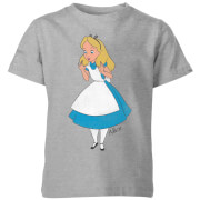 Disney Alice In Wonderland Surprised Alice Kids' T-Shirt - Grey