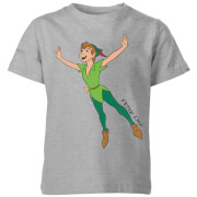 Disney Peter Pan Flying Kids' T-Shirt - Grey