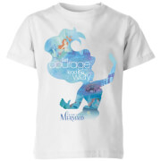 Disney Princess Filled Silhouette Ariel Kids' T-Shirt - White