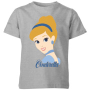 Disney Princess Colour Silhouette Cinderella Kids' T-Shirt - Grey