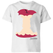 Disney Princess Colour Silhouette Snow White Apple Kids' T-Shirt - White