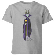 Disney Sleeping Beauty Maleficent Classic Kids' T-Shirt - Grey