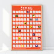 100 Craft-Biere Eimerliste Poster